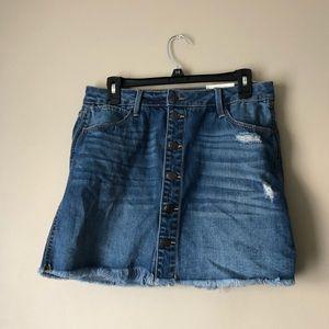 NEW! Distressed Jean Skirt